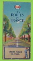 CARTE ROUTIÈRE De FRANCE - Publicité ESSO - Belles Illustrations - Années 1950 - 1:500 000 - Strassenkarten