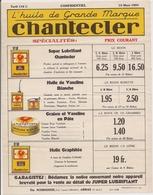 PUBLICITE HUILE DE GRANDE MARQUE -CHANTECLER -  Ets SCHROEDER - ARRAS - - Advertising