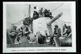 Navire De Guerre   - Port Vendres - Réfugiés Espagnols De Barcelone - Coupure De Presse (encadré Photo) De 1937 - Historische Documenten