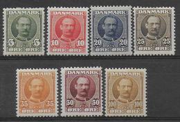 DANEMARK - YVERT N° 55/61 ** MNH (INFIME ADHERENCE SUR 61) - COTE = 427.5 EUR. - Unused Stamps