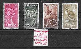 Mammifère - Sahara Espagnol N°163 à 166 Aigle Fennec Léopard Panthère Renard 1960 ** - Félins