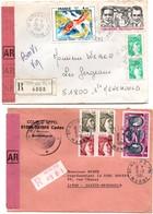 Reims Ppal & Witry-les-Reims 1981 Marne - Recommandé Avec étiquette Et Griffe - 1961-....