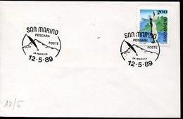 54117 San Marino , Special Postmark 12.5.1989   La Maiella,   Alpini - Géologie