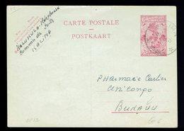 Courrier Local Stibbe CP 82 ( 2,40 Frs ) Kalima 19 2 57 => Bukavu - Postwaardestukken