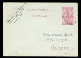 Courrier Local Stibbe CP 82 ( 2,40 Frs ) Kalima 19 2 57 => Bukavu - Entiers Postaux