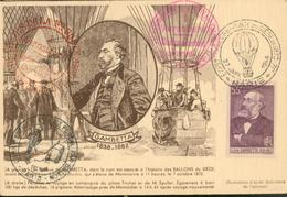 Expositions-Poste Du Siège De 1870 Paris  Gambetta - France