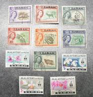SABAH  MALAYSIA GERMANY STAMPS  1964-65    ~~L@@K~~ - Sabah
