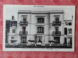 "Dep 35 , Cpa SAINT MALO ,sur La Digue ""Alba Hotel""  (181) - Saint Malo"