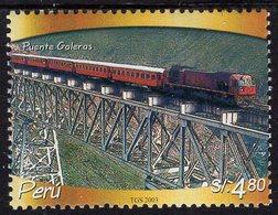 Peru - 2003 - Galeras Bridge And Train - Mint Stamp - Pérou
