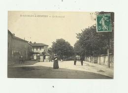 69 - SAINT GEORGES DE RENEINS - Le Boulevard Animé  Bon état - Altri Comuni