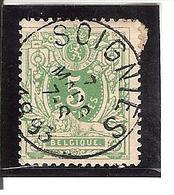 Belgique N° 45 SOIGNIES Y107 - 1893-1907 Armoiries