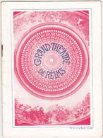 Ancien Programme SAISON 1936 - 1937 / GRAND THEATRE DE REIMS - Programmes