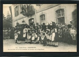 CPA - DANNEMARIE - Les Autorités De La Ville Attendant Le Président De La République, Très Animé - Guerra 1914-18