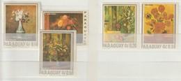 PARAGUAY - 1967 - MI Nr.1729...1733 -      Bloemen En Schilderen  - Ongestempeld ** - Paraguay