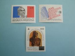 1989 Argentine  Yv 1680/1 + 1684 ** MNH  - Michel 1977/8 + 1984 French Revolution - Neufs