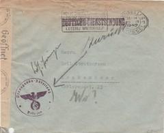 "Brief Met ""Propaganda Abteilung Belgien"", Deutsche Dienstsendung Brussel 1942 Naar ""WO?"" En Zurück + Censuur Cöln. - Lettres"