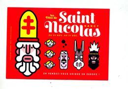 Carte  Publicité Nancy Fete De Saint Nicolas - Publicités
