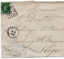 COB 30 Sur LAC Du 24 JUIN 1921 - Oblit.à Point Bxl Vers Charbonnage De Bonne Fin - Faubourg Ste Margueritte - Liège. - 1884-1891 Leopoldo II