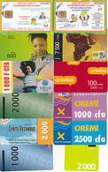 12 Télécartes BENIN Lot2 - Bénin