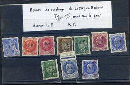 LIBERATION DE LIGNY EN BARROIS...essais.......authentifiés Par Mr LALICHE Expert Du Catalogue MAYER...cote Environ 1000 - Liberation