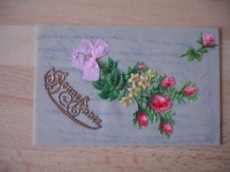 Belle Carte Fantaisie  Celluloid Chromo Decoupi  Rose - Fantasie
