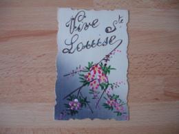 Belle Carte Fantaisie Peinte Vive Sainte Louise - Fantasie