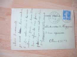 Brosses Facteur Boitier Obliteration Sur Lettre - Postmark Collection (Covers)