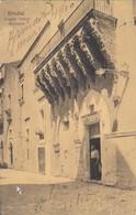 BRINDISI-LOGGIA ANTICA BALSAMO-CARTOLINA VIAGGIATA IL 7-3-1910 - Brindisi