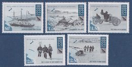 Ross, N° 115 à 119 (expédition Britannique En Antarctique, Nimrod, Hutte, Voiture, Prof. Edgeworth, Mont Erébus) Neuf ** - Ross-Nebengebiet (Neuseeland)