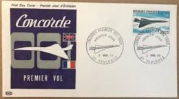 Aviation - FDC France - Le Concorde Premier Vol 1969 - - FDC