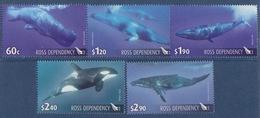 Ross, N° 125 à 129 (cachalot, Rorqual, Orque, Baleine à Bosse Et De Minke) Neuf ** - Dépendance De Ross (Nouvelle Zélande)