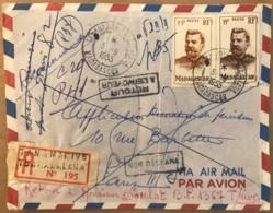 LSC Lettre Recommandée De Tananarive Non Réclamée Et Retour Envoyeur Nombreux Cachets Au Dos 1955 - Madagascar (1889-1960)