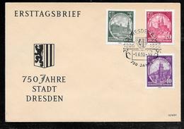 Germany DDR - 1956 Dresden 750th Anniversary Illustrated FDC - Dresden Pictorial Postmark - [6] República Democrática