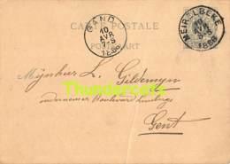 CPA CARTE POSTALE 1886 MEIRELBEKE GAND GENT MERELBEKE 34 - 1869-1888 Lying Lion