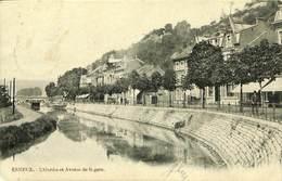 026 786 - CPA - Esneux - L'Ourthe Et Avenue De La Gare - Esneux