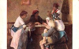 CARTOMANCIE / DIVINATION Avec CARTES à JOUER : CARTOMANCIENNE / FORTUNE TELLER With CARDS : JOBST ~ 1920 (ad649) - Cartes à Jouer
