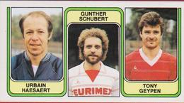 Panini Football 83 Voetbal Belgie 1983 Sticker Nr. 363 FC Beringen Urbain Haesaert Gunther Schubert Tony Geypen - Sport