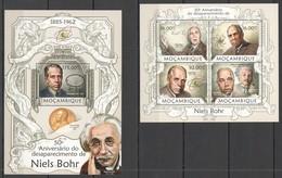 TT586 2013 MOZAMBIQUE MOCAMBIQUE SCIENCE & TECHNOLOGY NIELS BOHR ALBERT EINSTEIN KB+BL MNH - Prix Nobel