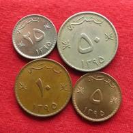 Oman Set 5 10 25 50 Baiza  1975 / 1395 - Oman