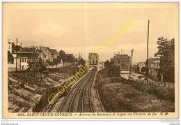92. SAINT CLOUD COTEAUX . Avenue De Suresnes Et Ligne Du Chemin De Fer . - Saint Cloud