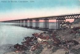 Tarjeta Postal.  Concepcion  (Chili Chile) Rara  Puente Ferroviario Bio Bio       Ed Juan Sepulveda   171 - Chili