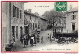 CPA 15 GLENAT Rue Principale Et Le Chateau   ( Ro5 Près SAINT PAUL DES LANDES St - Autres Communes