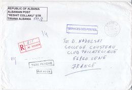 Albanie, Lettre Recommandée De 2002,,service Des Postes, ( MC2020.01/005) - Albania