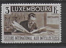 LUXEMBOURG - YVERT N° 270 ** MNH LUXE ! - COTE = 100 EUROS - INTELLECTUELS - JOURNALISTE - Neufs