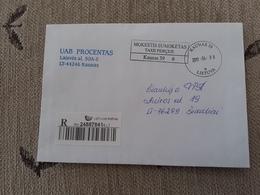 Lithuania Litauen Cover Sent From  Kaunas To Siauliai 2011 - Lituania