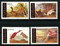 TANZANIE 1986 N° 277/280 ** Neufs MNH Superbes C 9,50 € Faune Oiseaux Canards Ornithologue Audubon Birds Animaux - Tanzania (1964-...)