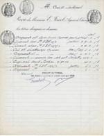 Fiscaux :  Papier Timbré Reçu De Titres De 1956 Avec 4 Timbres à L'extraordinaire (3,50-1,50-1 Et 2 Frs) - Fiscaux