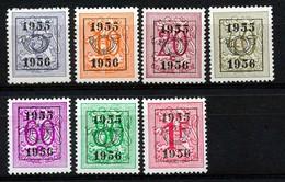 PRE 652/658 - MNH**  - Cote 11,50 € - Typos 1951-80 (Chiffre Sur Lion)