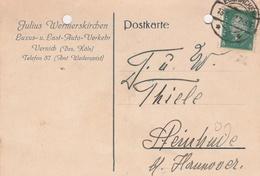 Deutsches Reich Firmenkarte Julius Wermerskirchen Luxus Last Auto Verkehr Vernich Bez Köln 1932 Weilerswist - Deutschland