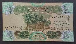 RS - Iraq 1/4 Dinar Banknote 1979 Prefix R/34 # 0080320 - Iraq